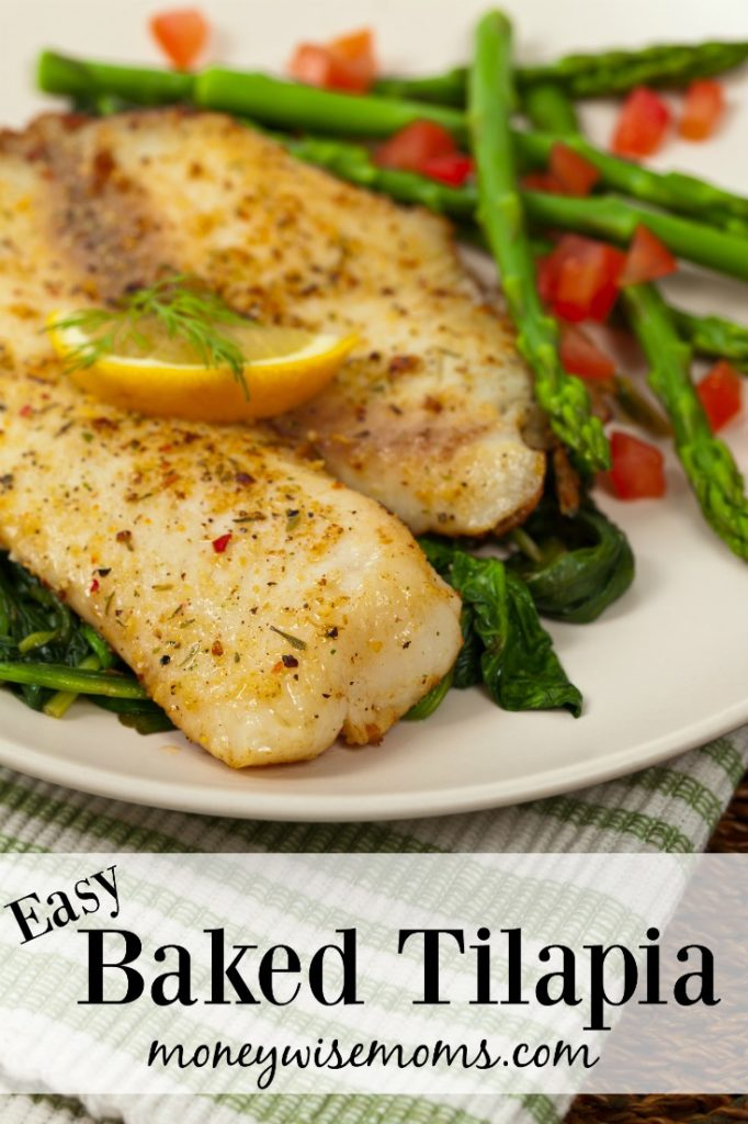 Easy Baked Tilapia - family friendly dinner for busy weeknights