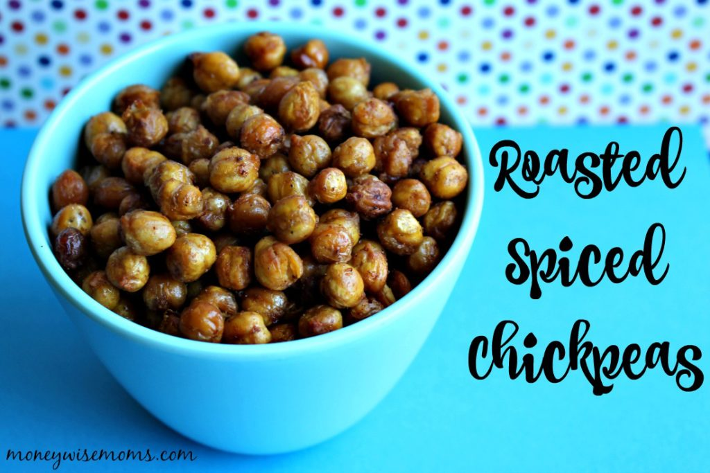 Roasted Spiced Chickpeas | A simple, gluten-free recipe that makes a great healthy snack filled with protein, fiber and flavor