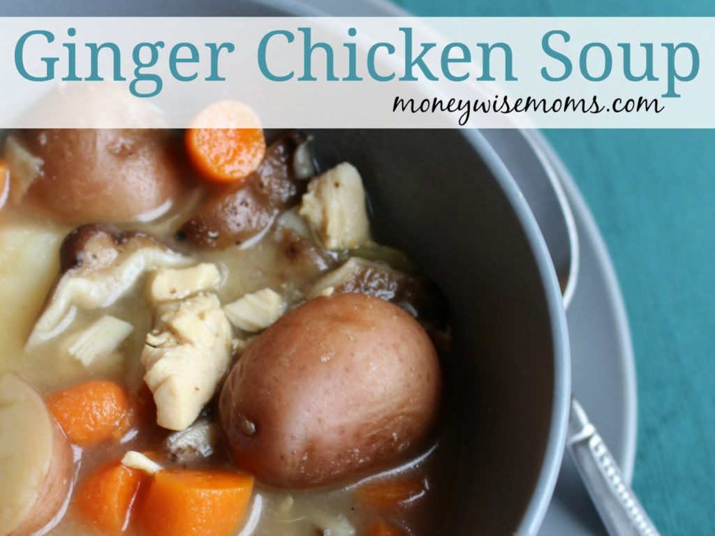 Ginger Chicken Soup - different with lime and shiitake mushrooms - so soothing!