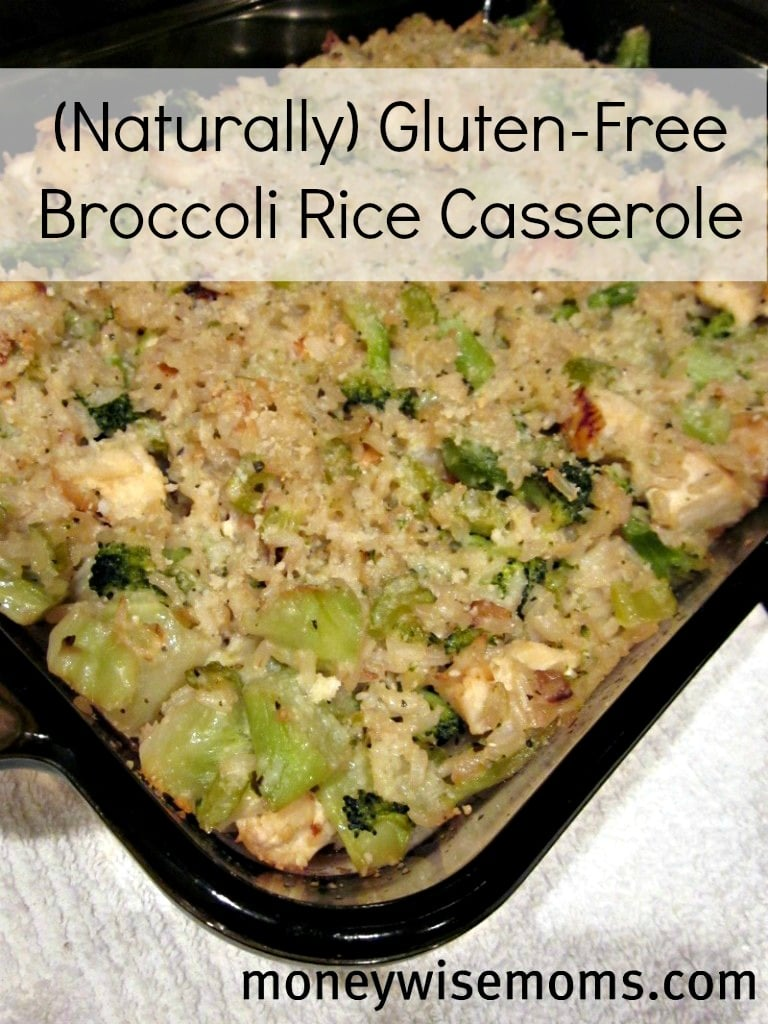 Broccoli Rice Casserole | Naturally Gluten-Free, so it's good for ...