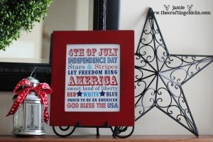 Patriotic Subway Art from Crafting Chicks   Quick Projects for the 4th of July   MoneywiseMoms