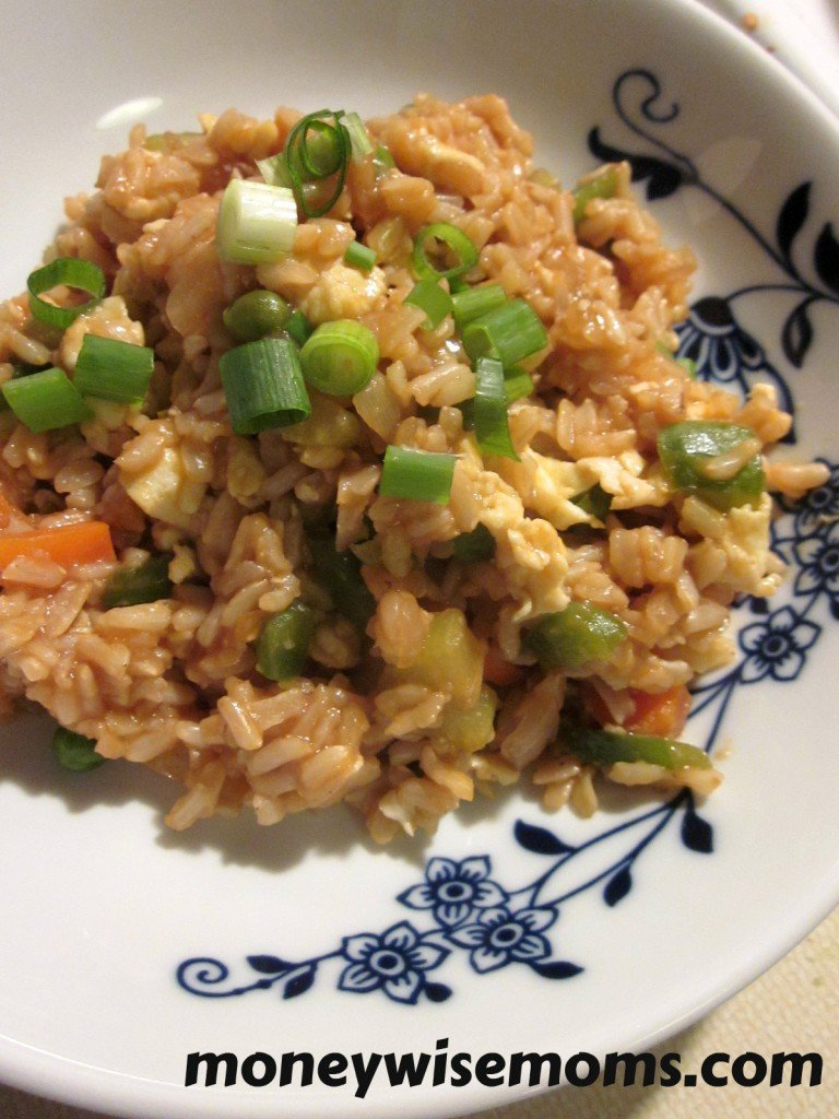 Simple Vegetable Fried Rice - Moneywise Moms