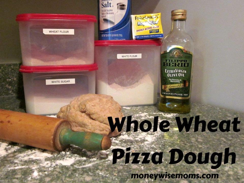 Whole Wheat Pizza Dough - Moneywise Moms