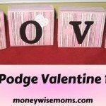 Mod Podge Valentine Blocks