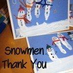 Snowmen Thank You Cards