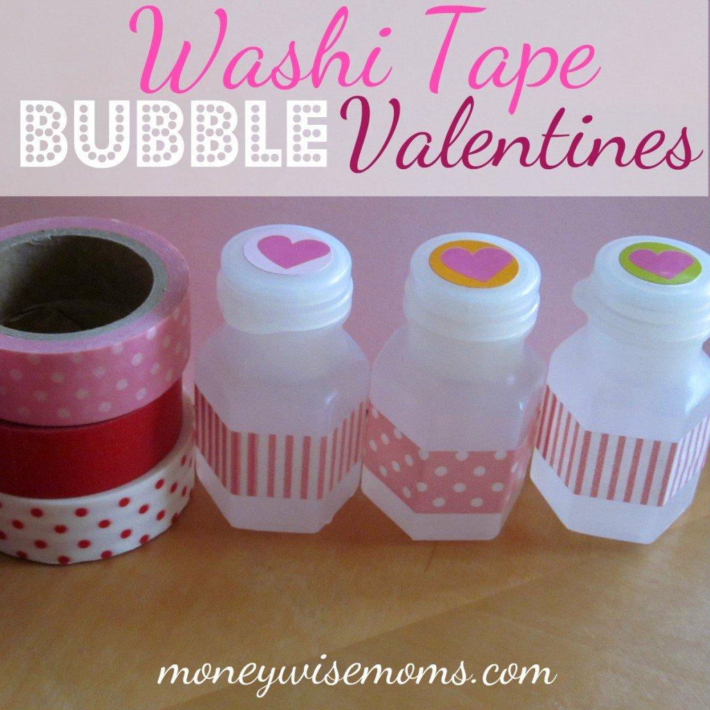 washi tape bubble valentines