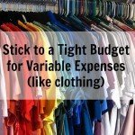 Stick to a Tight Budget for Variable Expenses