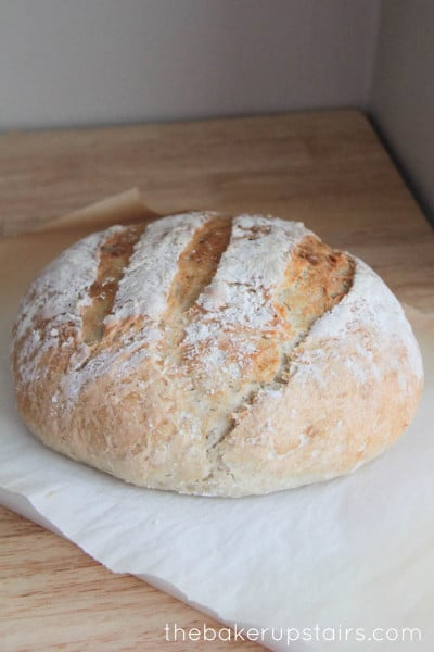 Crusty Artisan Bread from Somewhat Simple