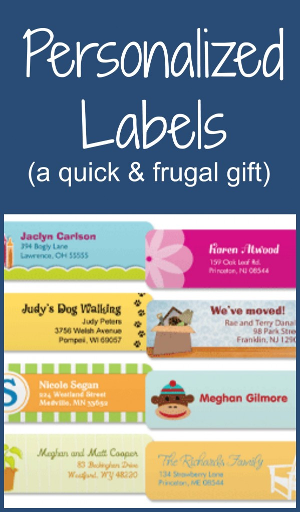Personalized label gifts via moneywisemoms