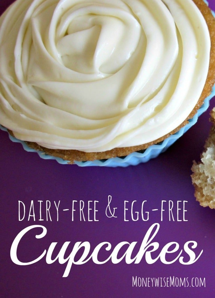 Dairy Free and Egg Free Cupcakes and Cake recipe - allergy friendly