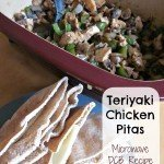 Teriyaki Chicken Pitas {Microwaved in the DCB}