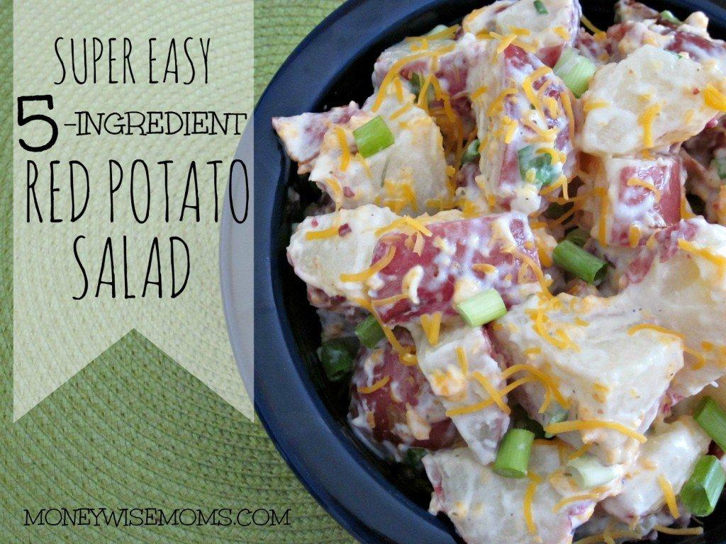 Super Easy Red Potato Salad #recipe that has just 5 ingredients   MoneywiseMoms