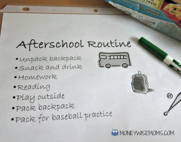 Afterschool Routine | Getting Kids on a Morning Routine | MoneywiseMoms