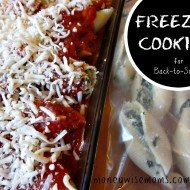 Freezer Cooking for Back To School