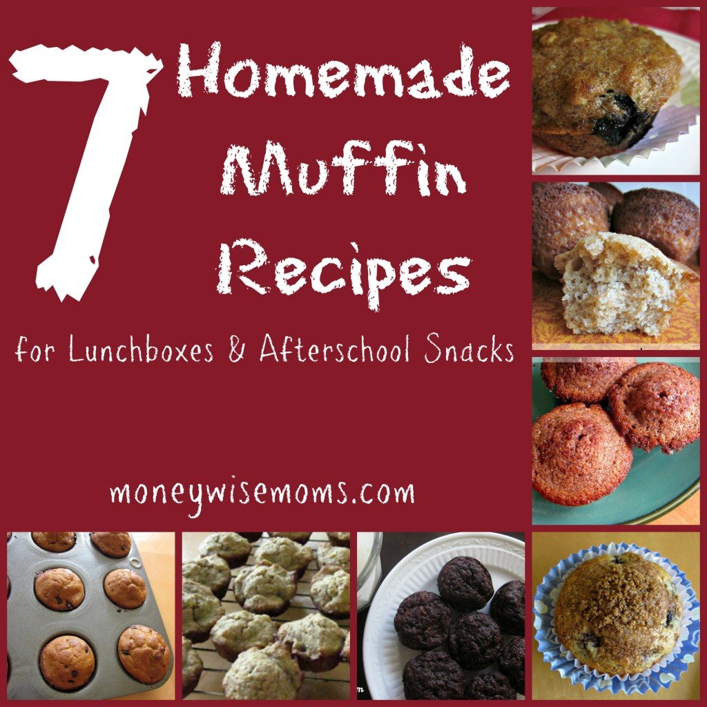 Homemade Muffin Recipes | Easy #realfood #recipes for lunchboxes and afterschool snacks | MoneywiseMoms