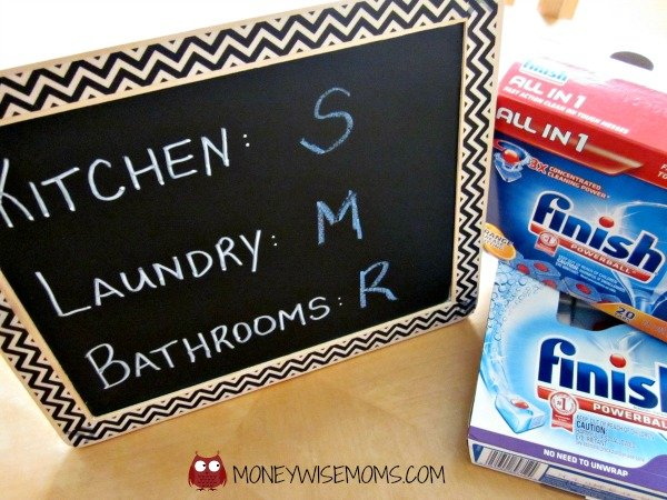 Kids Chore Chart with Finish Dishwasher Detergent #SparklySavings
