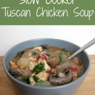 Tuscan Chicken Soup {Slow Cooker}