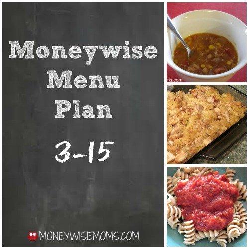 Moneywise Menu Plan 3-15 Eating from the Freezer | MoneywiseMoms
