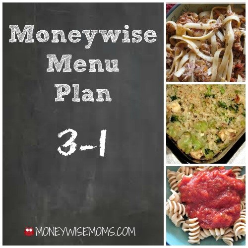 Moneywise Menu Plan - easy frugal meals that are family friendly