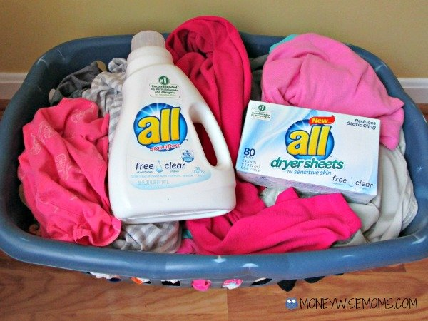 All Free Clear Laundry Detergent | Ways to Make Laundry Easier | MoneywiseMoms