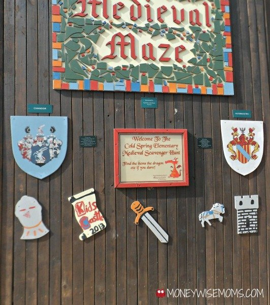 Scavenger Hunt at Kids Castle Playground in Doylestown PA #familytravel