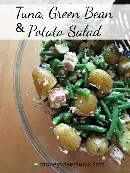 Tuna Green Bean Potato Salad | light refreshing spring salad | MoneywiseMoms