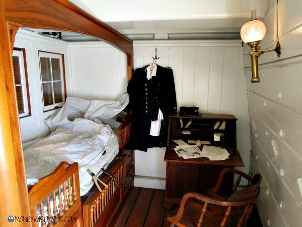Captains Quarters on USS Constellation in Balitmore | historic ships #familytravel