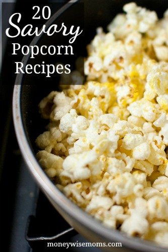 Savory Popcorn Recipes | frugal snacks made with real food | MoneywiseMoms