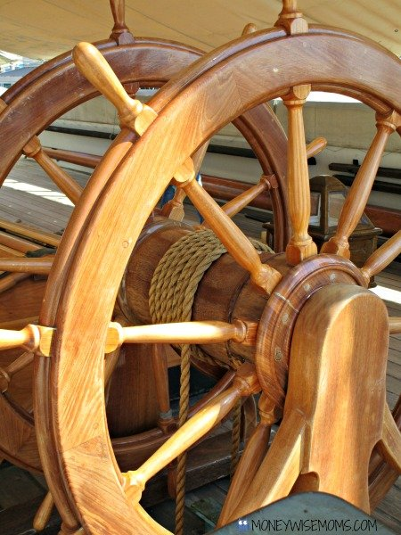 Wheel on USS Constellation in Baltimore | historic ships #familytravel