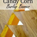 Candy Corn Burlap Banner {under $5}