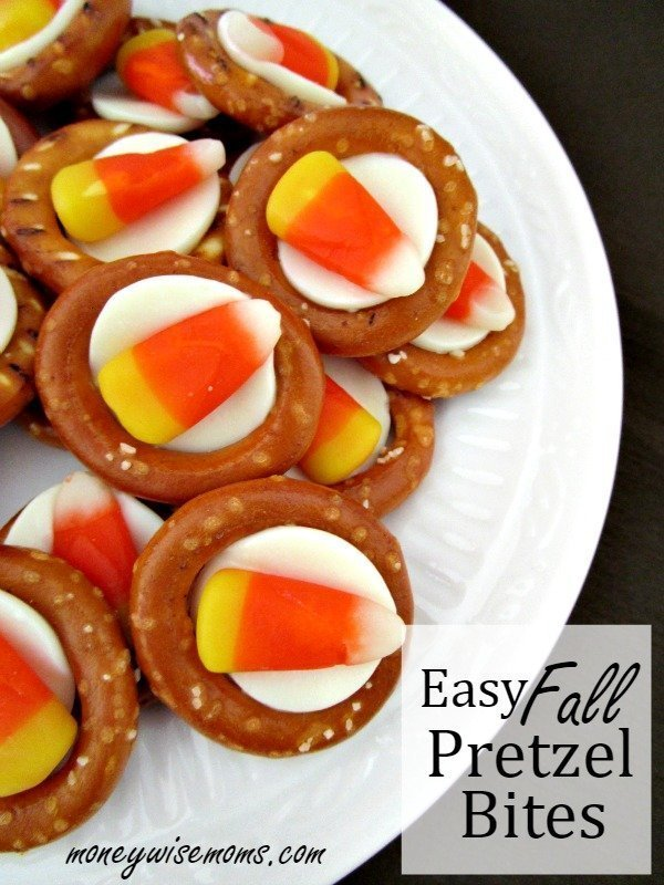 Easy fall pretzel bites moneywise moms for Easy halloween treats for work party