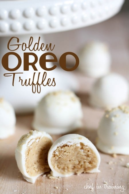 Golden Oreo Truffles from Chef in Training | 3-Ingredient Holiday Cookies