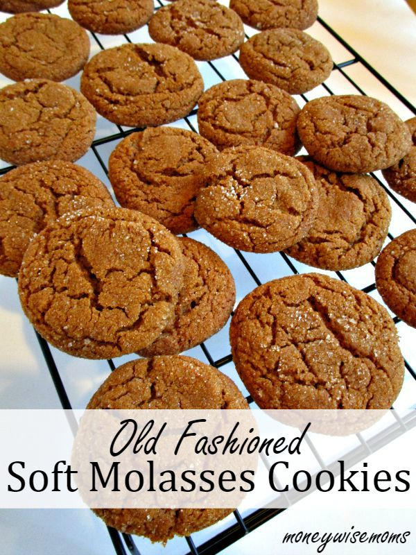 Old Fashioned Soft Molasses Cookies - Moneywise Moms