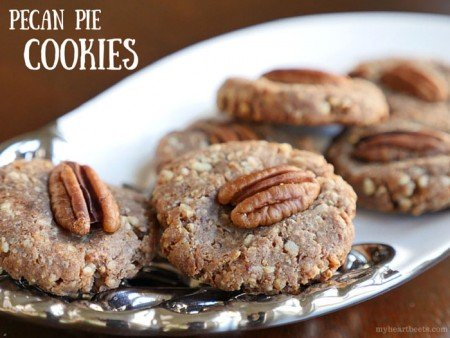 Pecan Pie Cookies from My Heart Beets | 3-Ingredient Holiday Cookies