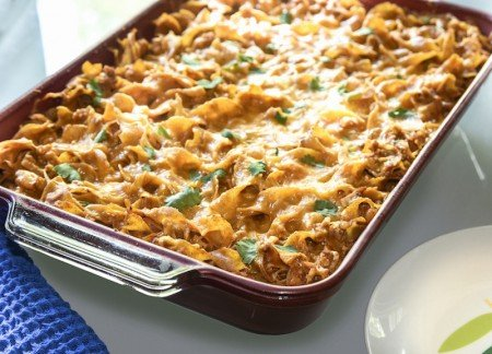 Skinny Turkey Enchilada Casserole from DIYCandy