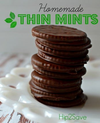 Homemade Thin Mints from Hip2Save | 3-Ingredient Holiday Cookies