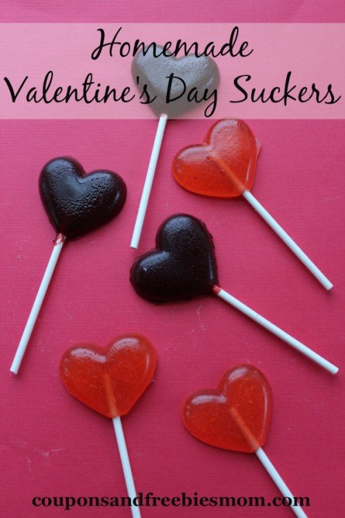 Homemade Valentines Day Suckers from Coupons and Freebies Mom | Valentine Sweets