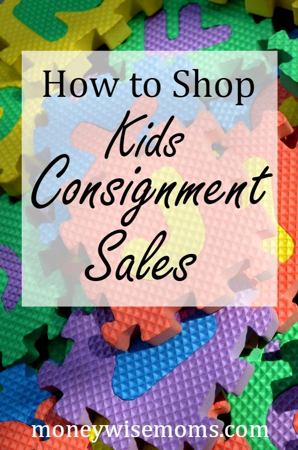 How to Shop Kids Consignment Sales - tips and tricks from a mom of twins
