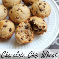 Chocolate Chip Wheat Mini Muffins