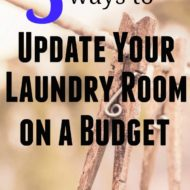 5 Ways to Update a Laundry Room on a Budget