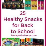 25 Healthy Snacks for Back to School