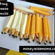 String Cheese Pencils {Tasty Tuesdays}