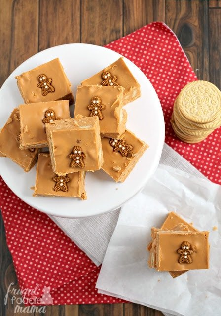 Gingerbread Oreo Fudge from Frugal Foodie Mama
