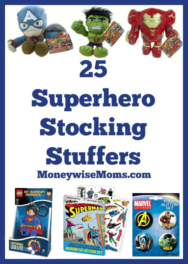 These Superhero Stocking Stuffers are fun for all ages! Socks, puzzles, games, gadgets and fun plush for the superhero fan at your house.