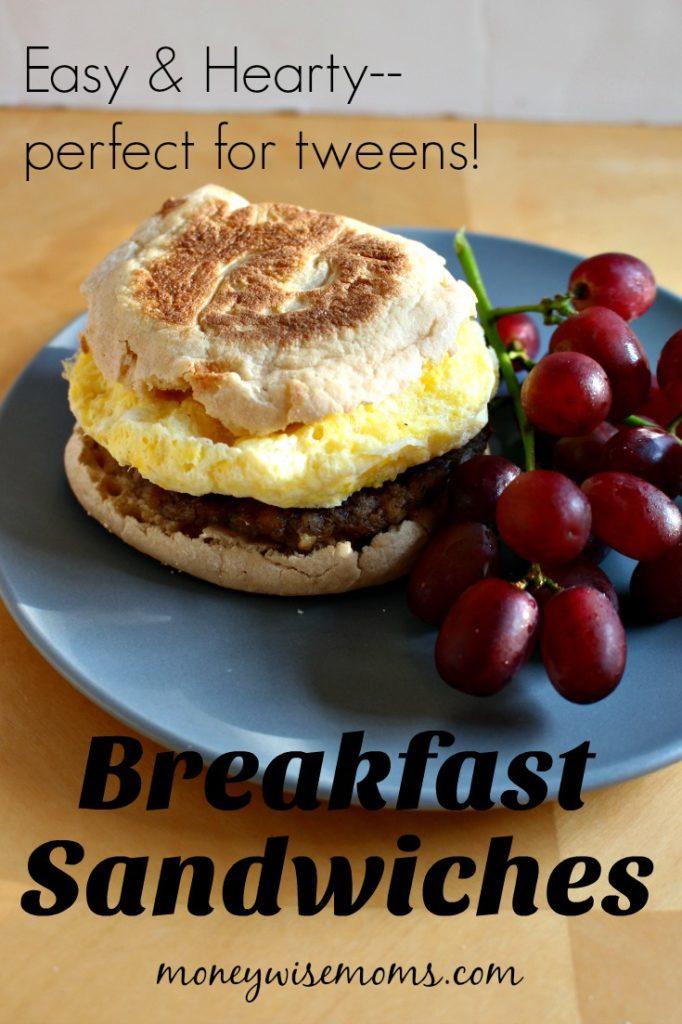 Hearty Breakfast Sandwiches - Easy Breakfasts on the go