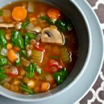 Easy and healthy! This Lentil Vegetable Soup is filled with vegetarian protein and fresh vegetables for a simple, filling meal.