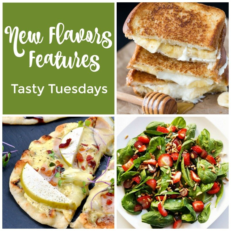 New Flavors - features from the Tasty Tuesdays Linky Party - recipes with something new