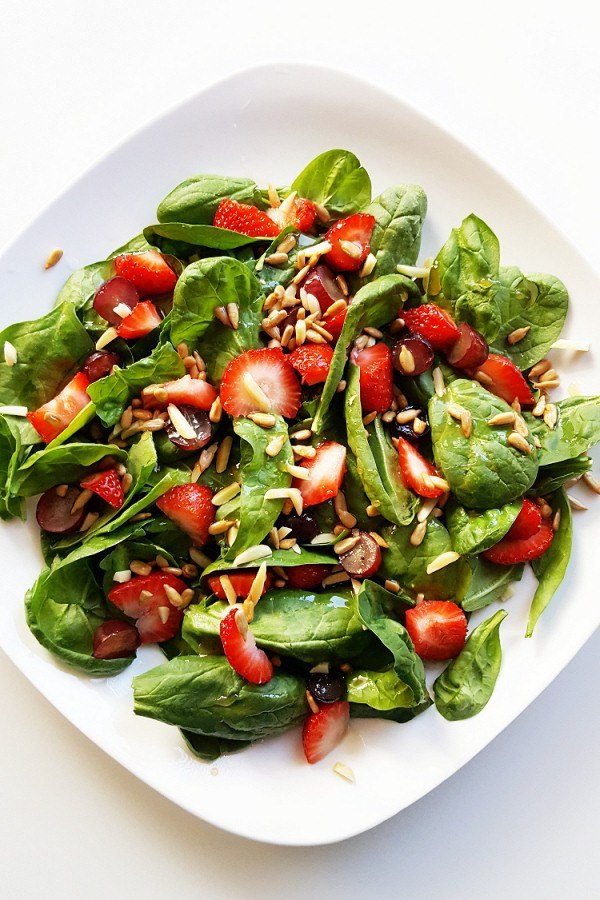 Strawberry Spinach Salad from Courtney's Cookbook