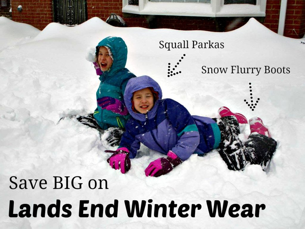 Tips and Tricks to Save shopping Lands End - winter shopping for kids - boots and winter coats